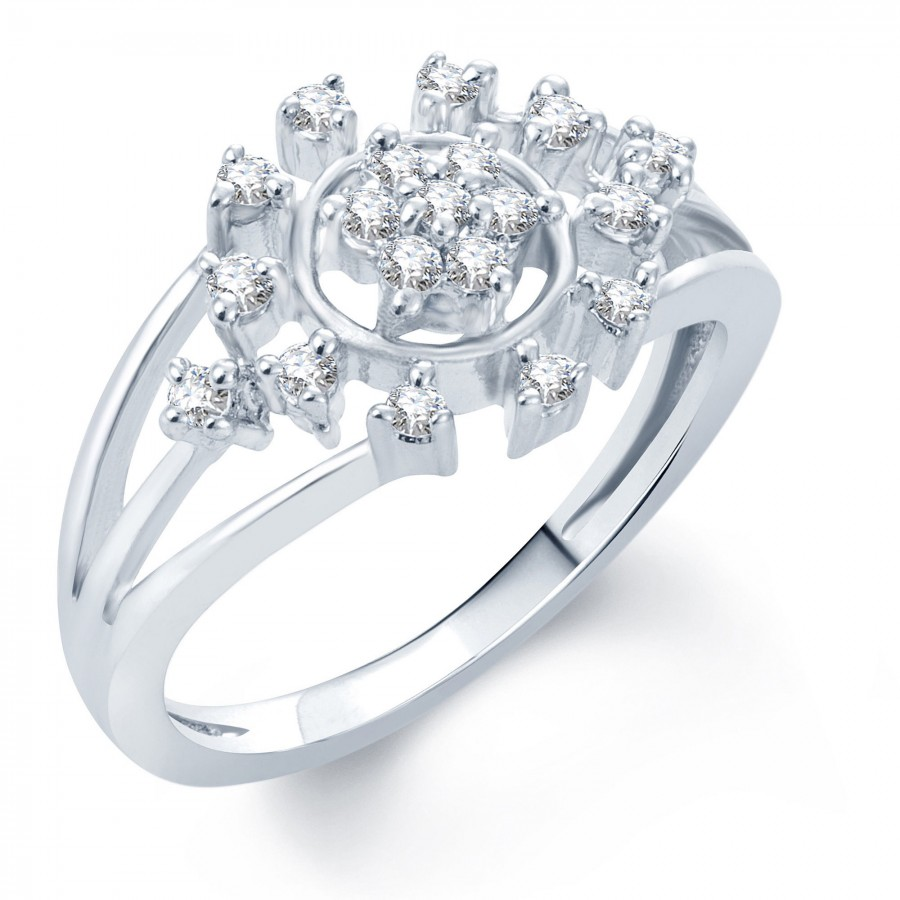 Buy Pissara Bewitching Rhodium Plated CZ Ring Online