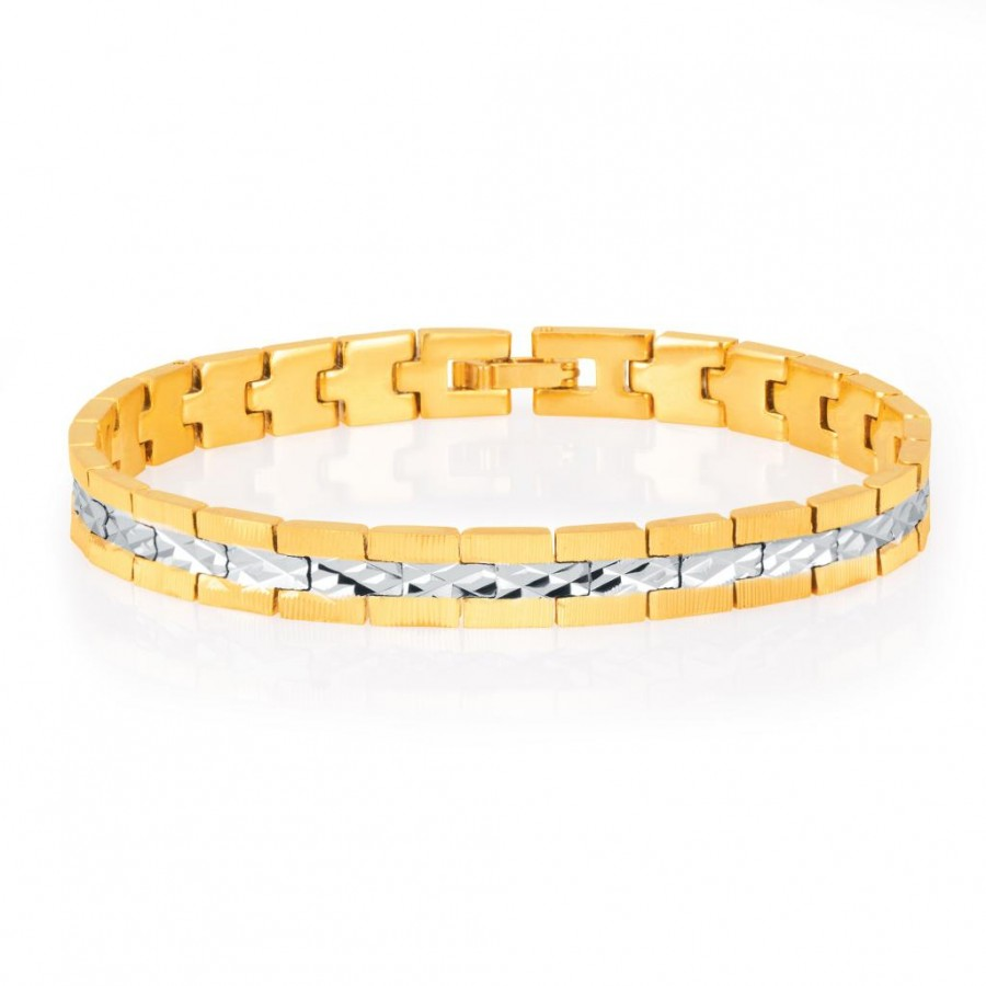 Buy Sukkhi Delightly Gold and Rhodium Plated Bracelet For Men Online