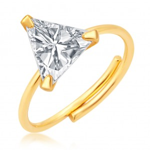 Buy Pissara Stunning Gold Plated CZ Ring For Women Online