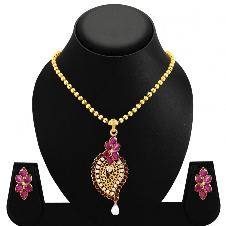 Buy Sukkhi Charming Gold Plated Pendant Set For Women Online