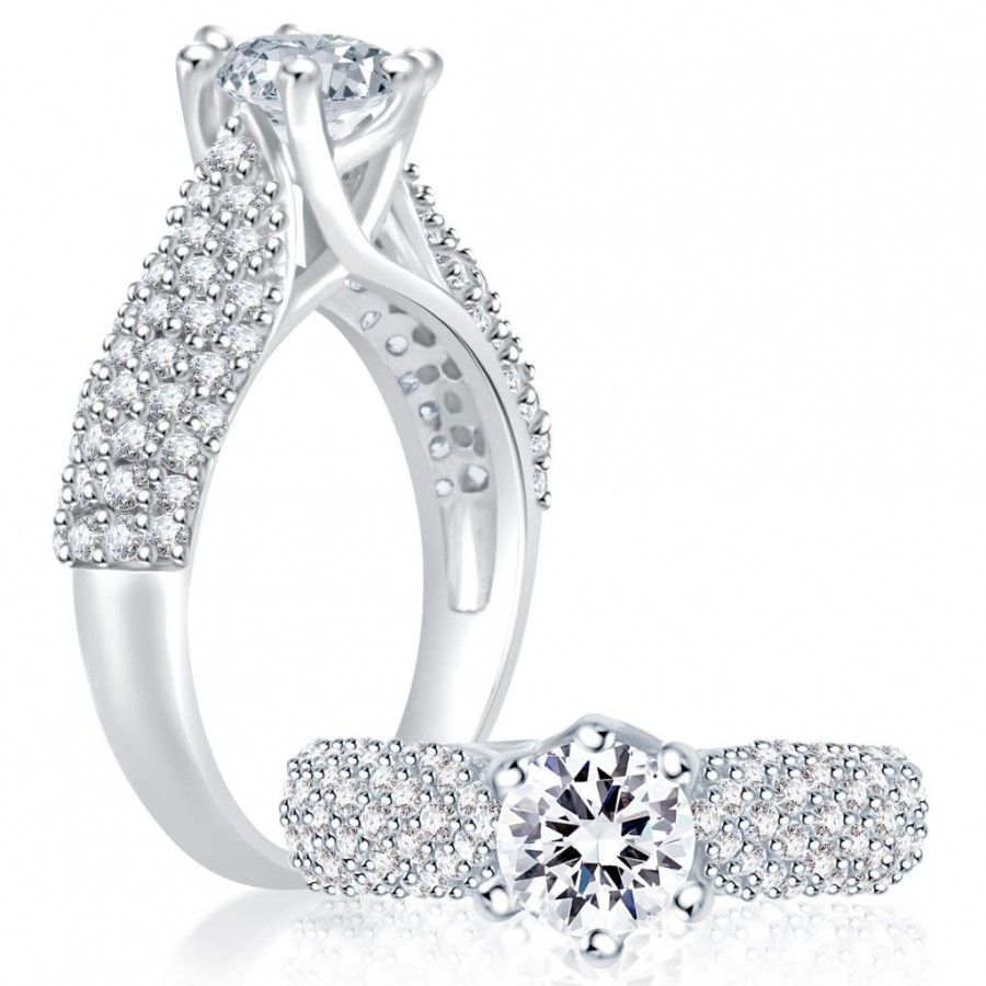 Buy Pissara Cluster Rhodium Plated CZ Ring Online