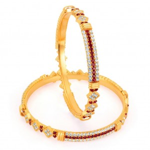 Buy Sukkhi Gold Plated Color Stone Bangles - 1143VB1200 Online