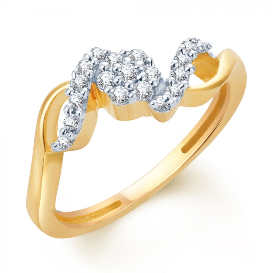 Buy Pissara Ritzzy Gold and Rhodium Plated CZ Ring Online