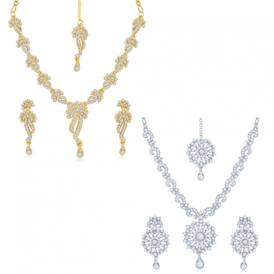 Buy Sukkhi Blossomy 2 Pieces Necklace Set Combo Online