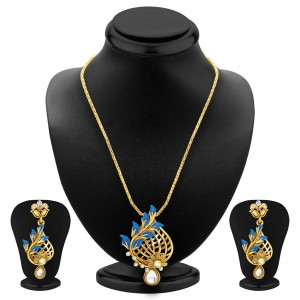 Buy Sukkhi Stunning Gold Plated Pendant Set For Women Online