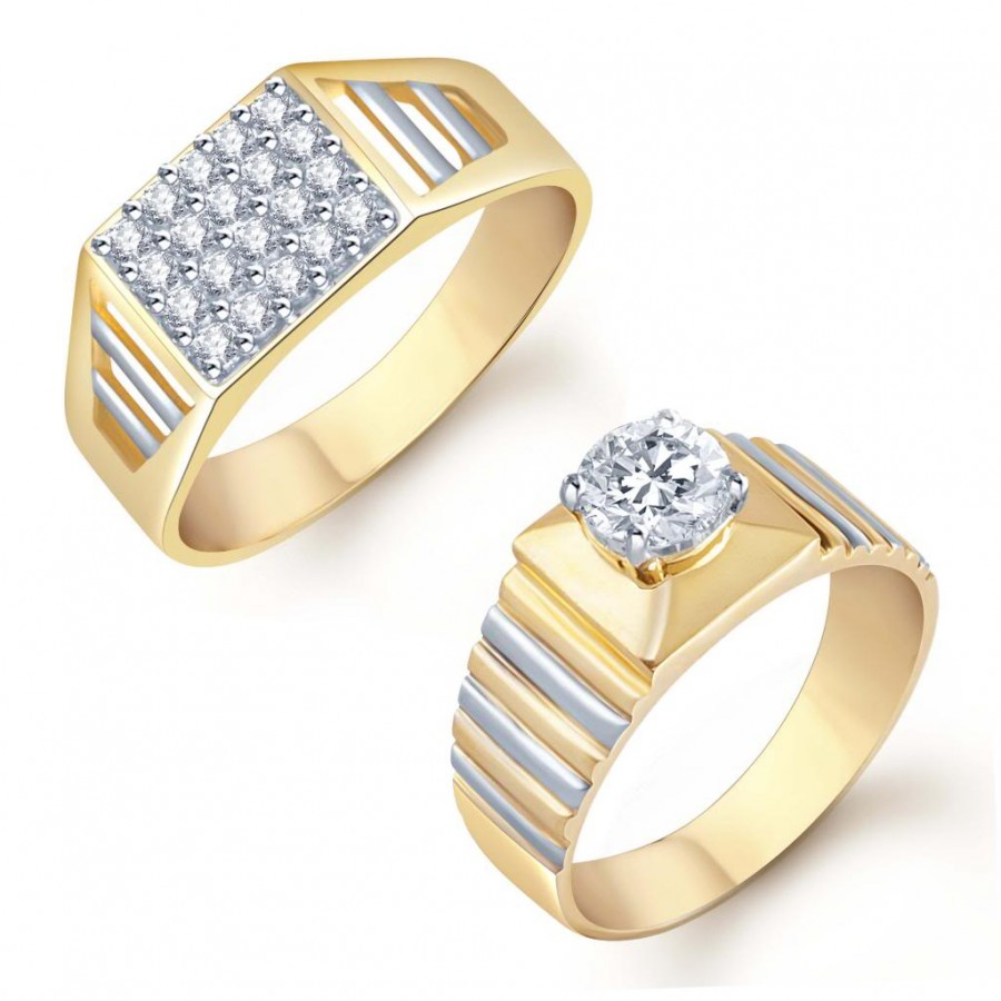 Buy Pissara Glorious 2 Piece Ring Combo for Men Online