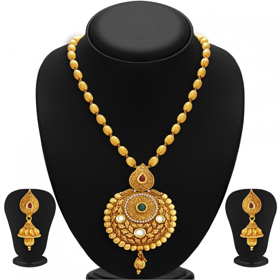 Buy Sukkhi Astonish Gold Plated Kundan Necklace Set For Women Online