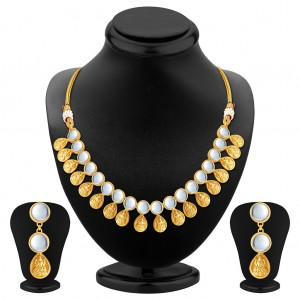 Buy Sukkhi Glamorous Gold Plated Temple Jewellery Necklace Set Online