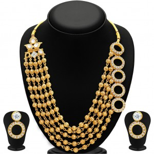 Buy Sukkhi Dazzling Gold Plated Necklace Set For Women Online