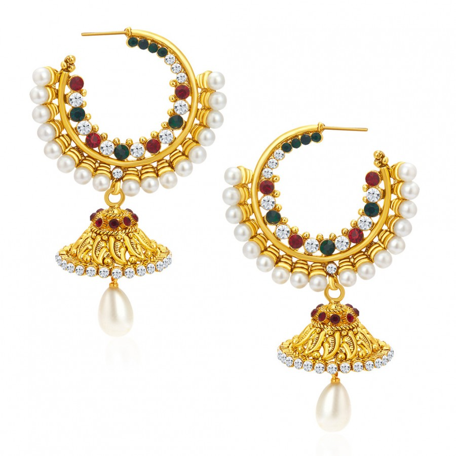 Buy Sukkhi Gleaming Gold Plated Earrings For Women Online