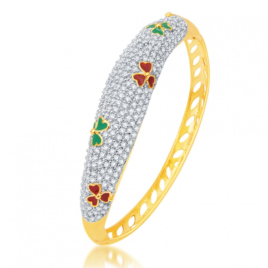 Buy Pissara Marvellous Gold and Rhodium Plated CZ Kada Online
