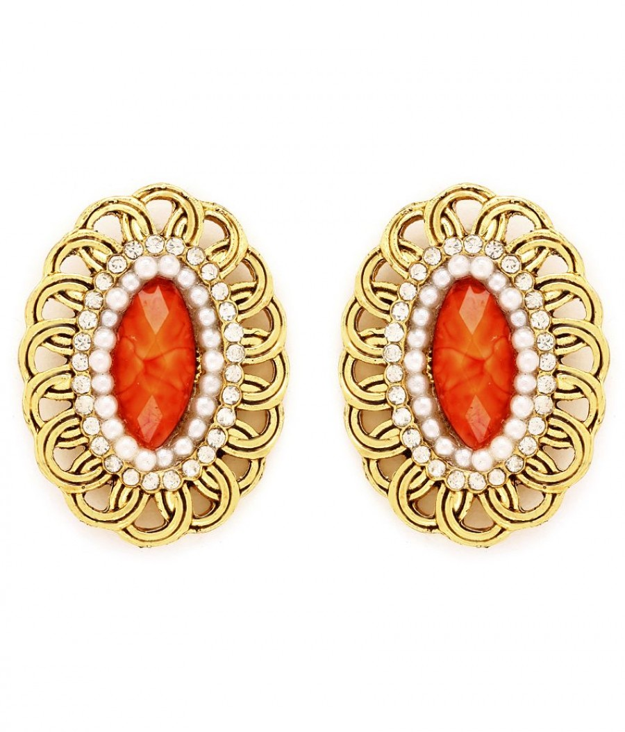 Buy Sukkhi Pretty Gold Plated AD Earring For Women Online