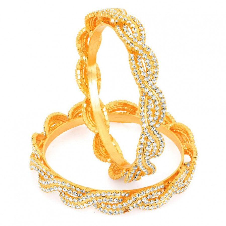 Buy Sukkhi Gold Plated AD Stone bangles - 1135VB2250 Online