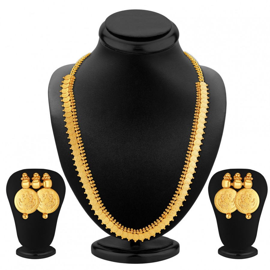 Buy Sukkhi Luxurious Gold Plated Temple Jewellery Necklace Set Online