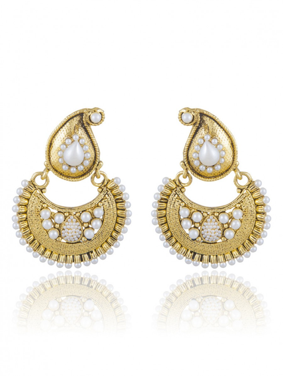 Buy Sukkhi Creative Gold Plated Chandbali Earring For Women Online