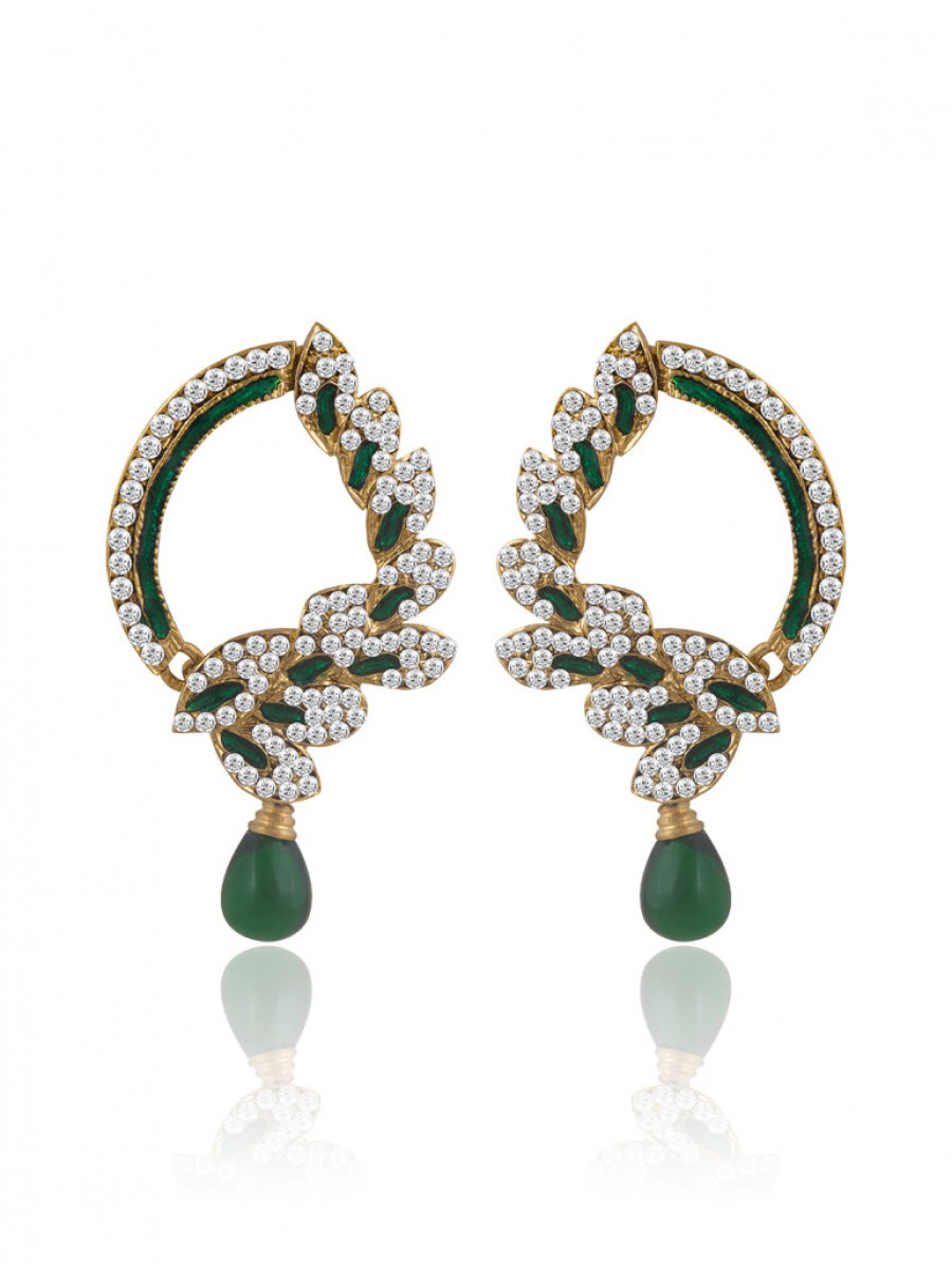 Buy Sukkhi Marvellous Gold Plated AD Earring For Women Online