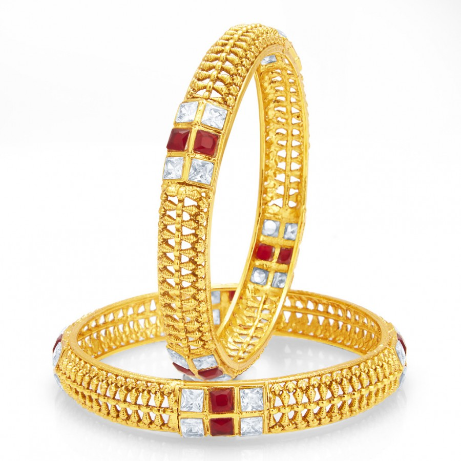Buy Sukkhi Sublime Gold Plated Bangle For Women Online