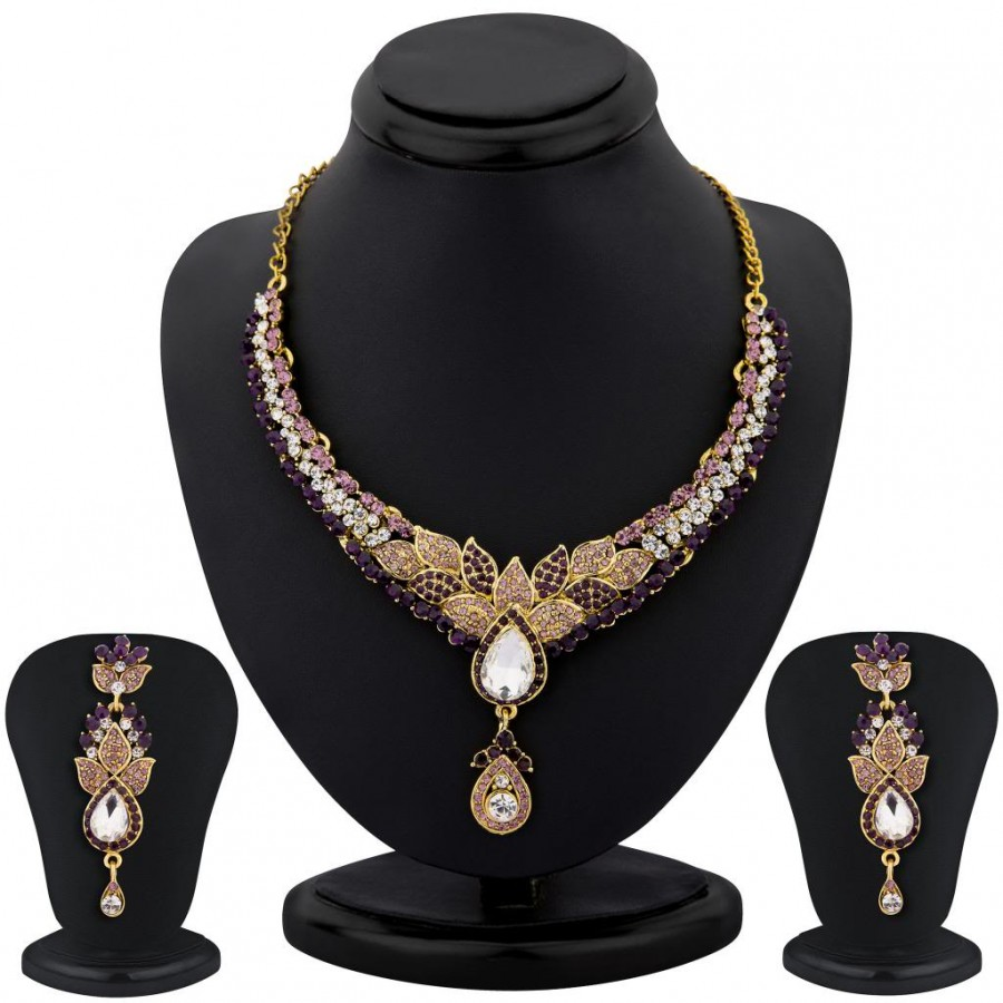 Buy Sukkhi color stone necklace set - 1157VN2500 Online