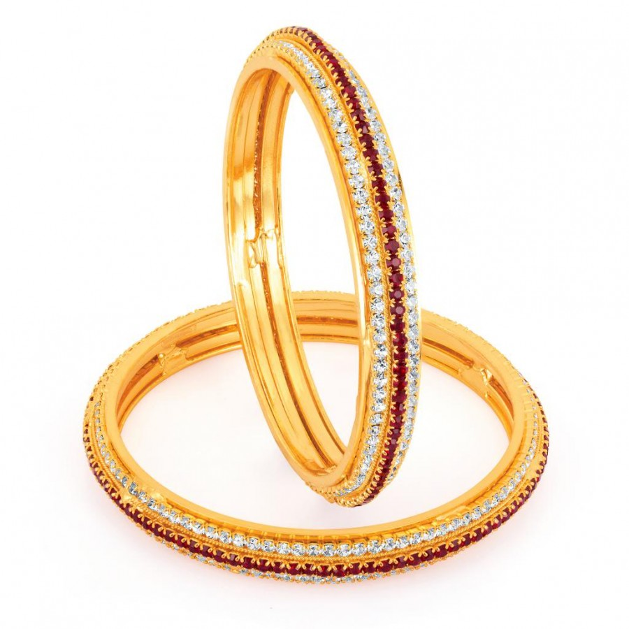 Buy Sukkhi Gold Plated Color Stone Bangles - 1141VB1500 Online
