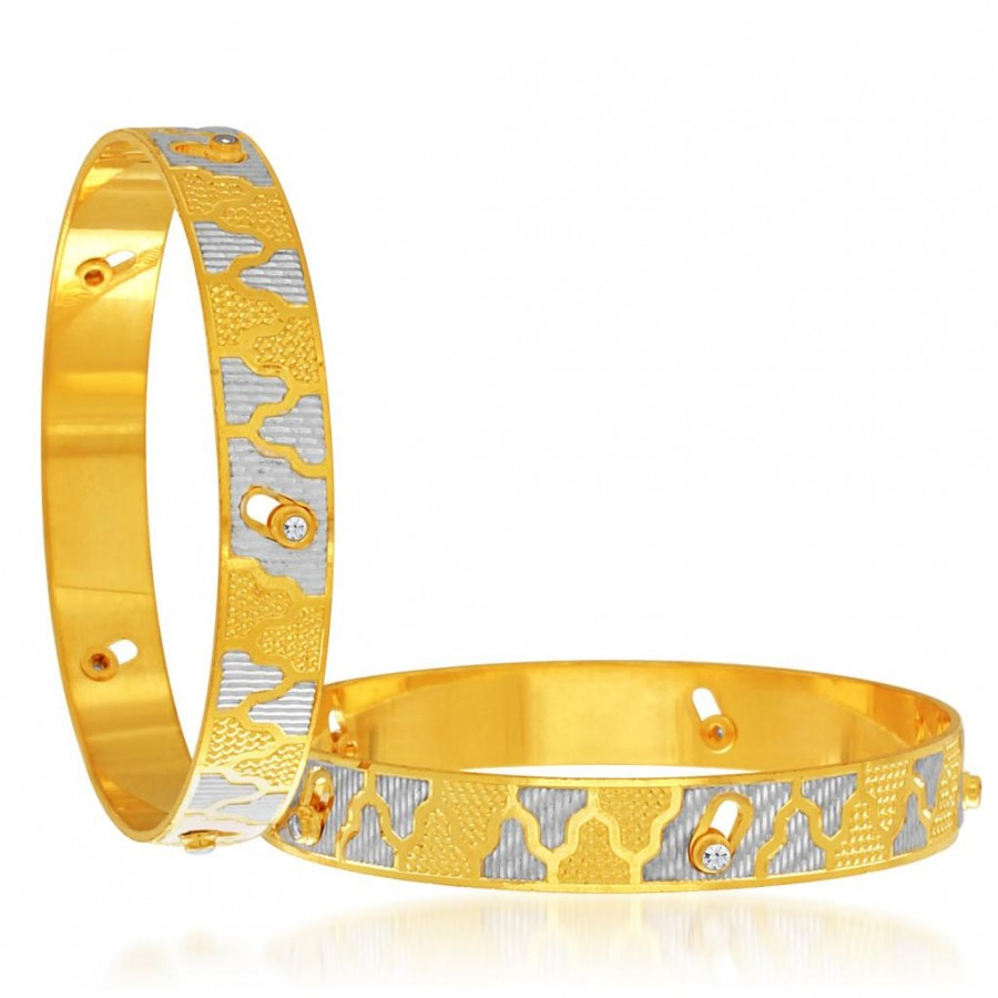 Buy Sukkhi Sublime Gold and Rhodium Plated Dancing Bangles for Women Online