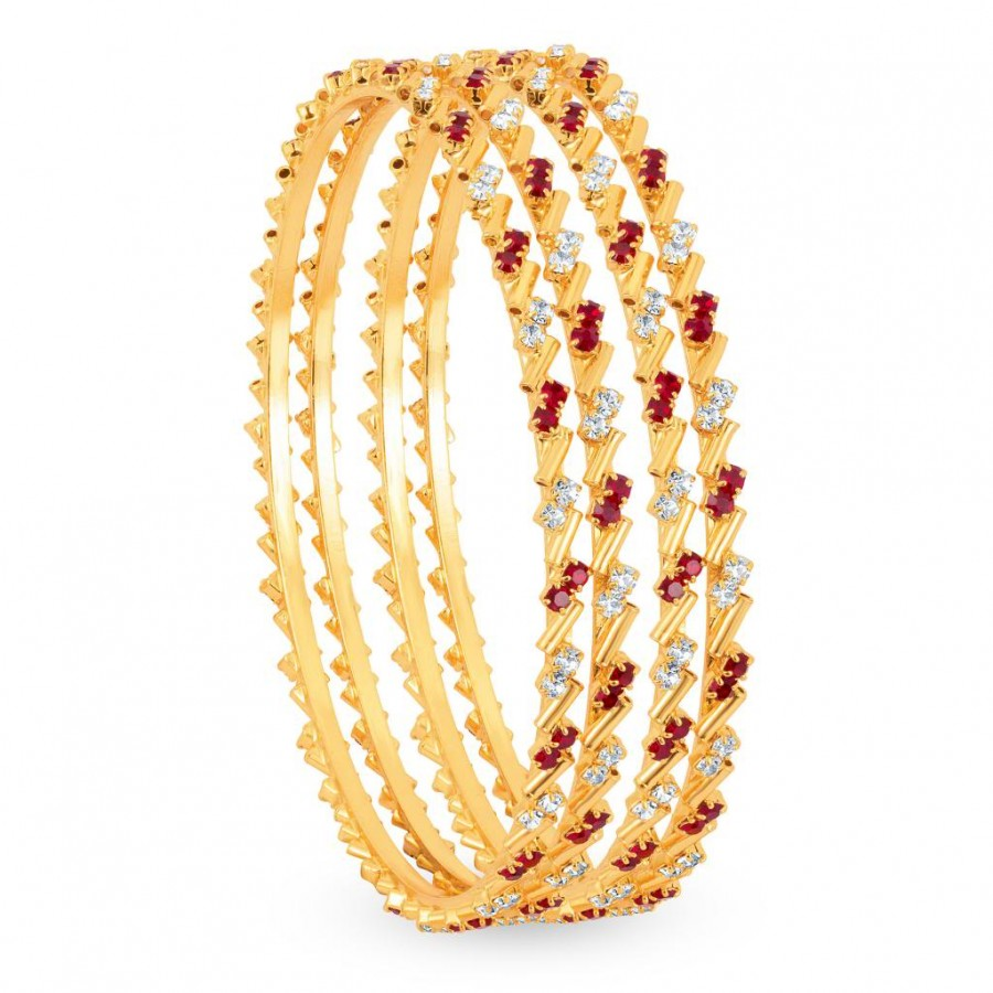 Buy Sukkhi Gold Plated Color & AD Stone bangles - 1124VB900 Online