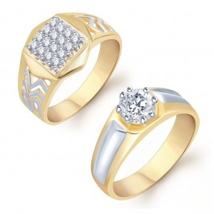 Buy Pissara Charming 2 Piece Ring Combo for Men Online