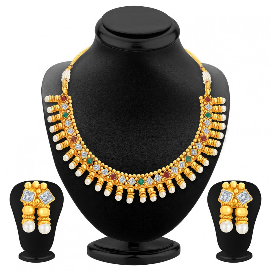 Buy Sukkhi Astonishing Gold Plated Kundan Necklace Set For Women Online