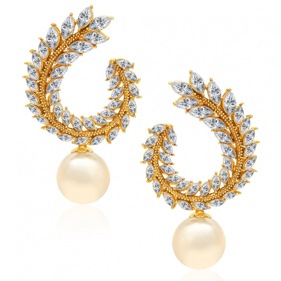 Buy Sukkhi Glorious Gold Plated AD Earring For Women Online