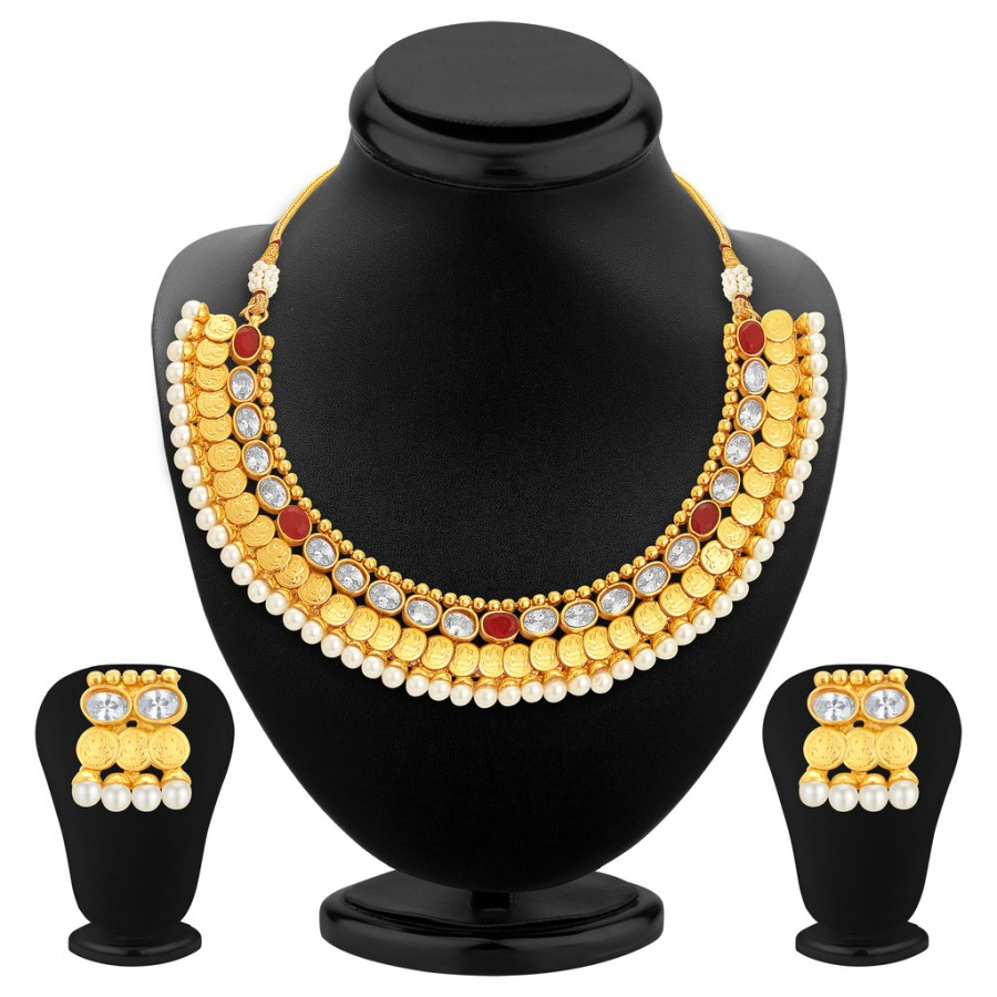 Buy Sukkhi Fashionable Gold Plated Necklace Set For Women Online