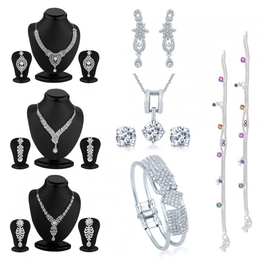 Buy Sukkhi Incredible 11 Piece Australian Diamond Combo Online