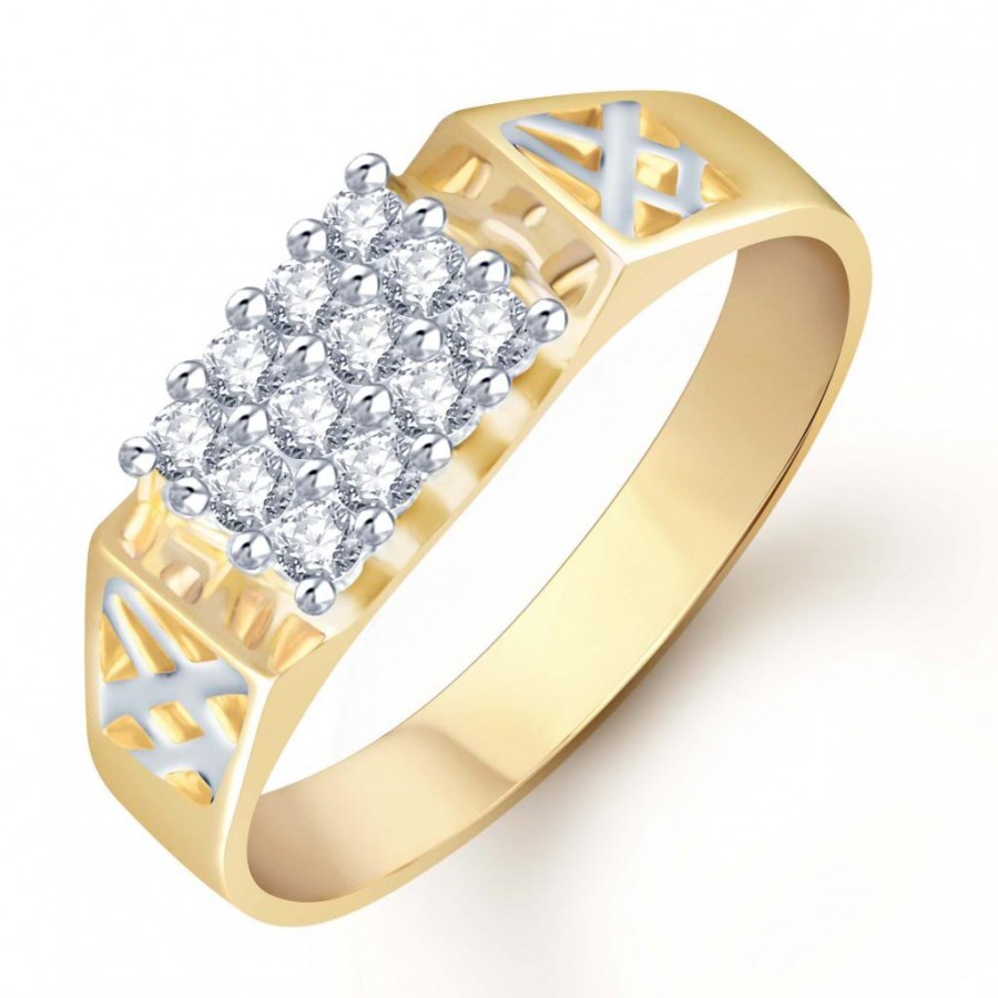 Buy Pissara Gold and Rhodium Plated CZ Ring for Men(115GRK450) Online