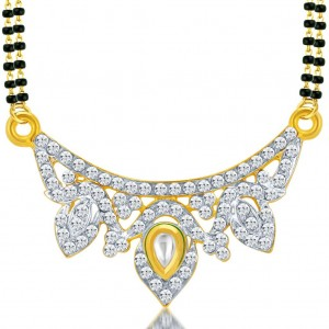 Buy Sukkhi Blossomy Gold and Rhodium Plated AD Kundan Mangalsutra Pendant for Women Online