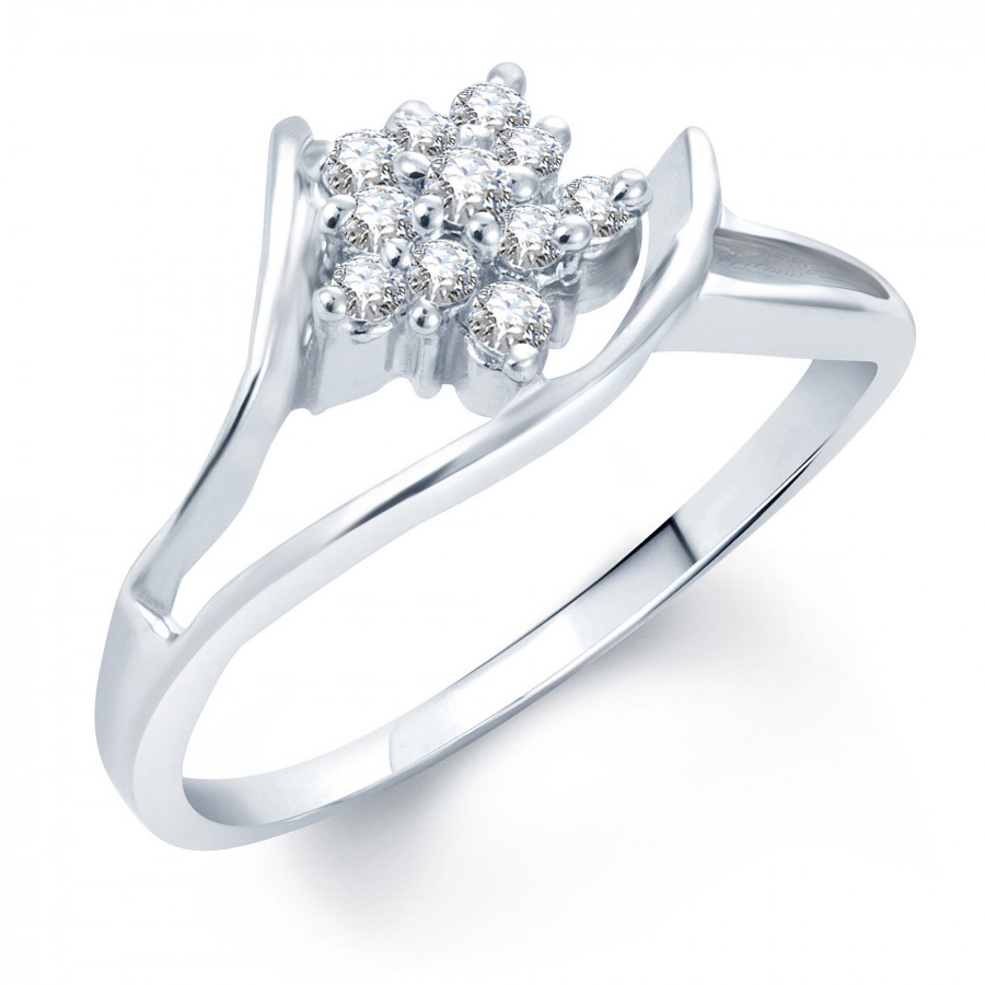 Buy Pissara Fancy Rhodium Plated CZ Ring Online