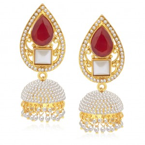 Buy Sukkhi Ritzy Gold Plated Pearl Jhumki For Women Online