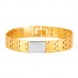 Buy Sukkhi Sleek Gold and Rhodium Plated Bracelet For Men Online