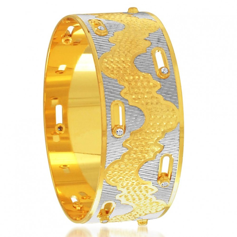 Buy Sukkhi Exquitely Gold and Rhodium Plated Dancing Kada for Women Online