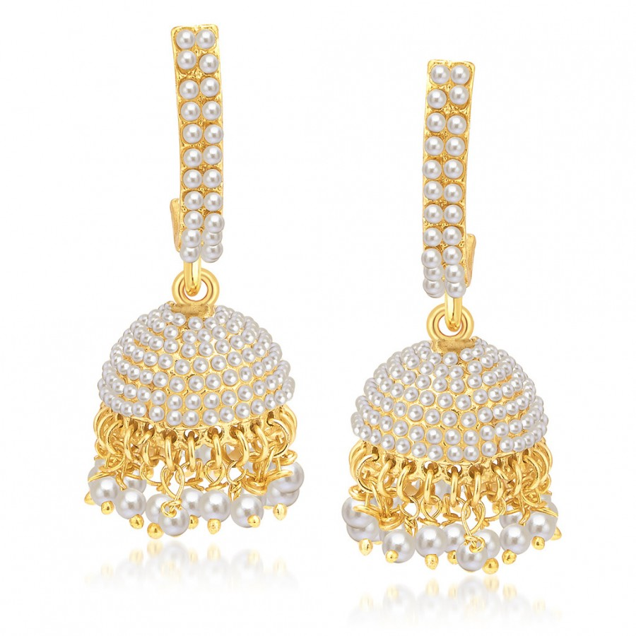 Buy Sukkhi Angelic Gold Plated Pearl Jhumki For Women Online