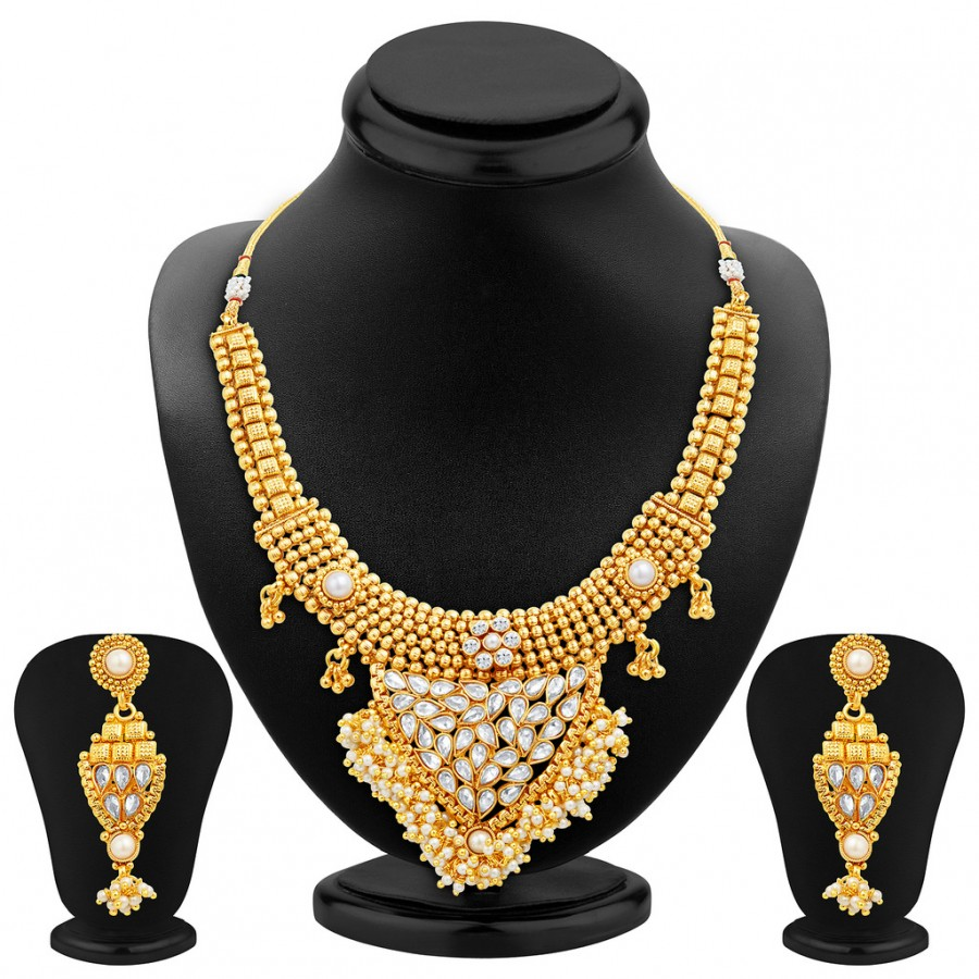 Buy Sukkhi Amazing Gold Plated Necklace Set Online
