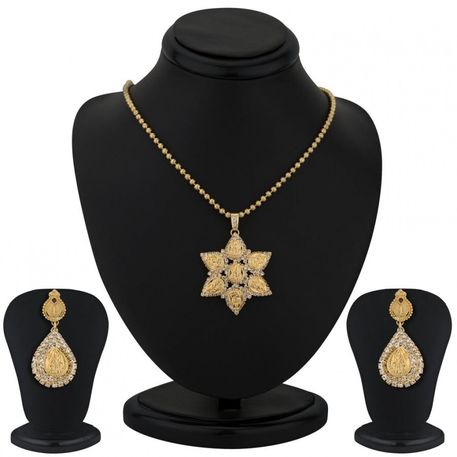 Buy Sukkhi Gold Plated Lord Lakshmi Pendant Set - 1163VN1050 Online