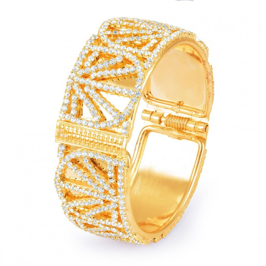 Buy Sukkhi Gorgeous Gold Plated Mirror Polish AD Kada for Women Online