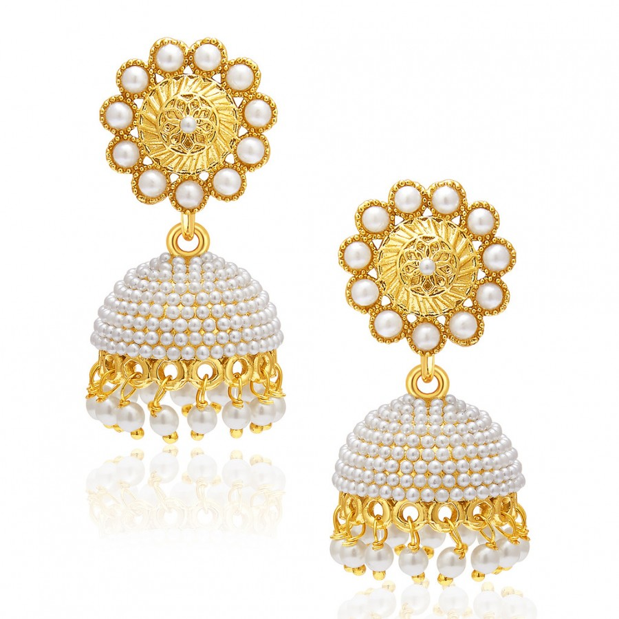 Buy Sukkhi Designer Gold Plated Pearl Earring For Women Online