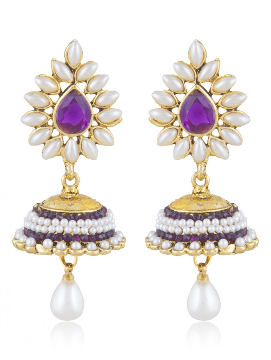 Buy Sukkhi Magnificent Gold Plated Jhumki Earring For Women Online