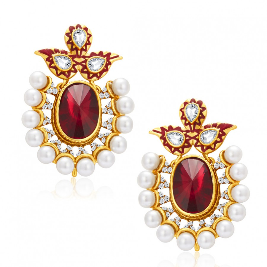 Buy Sukkhi Exquitely Gold Plated AD Earring For Women Online