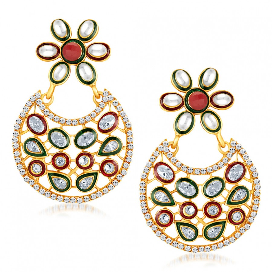 Buy Sukkhi Amazing Gold Plated Australian Diamond Earrings Online