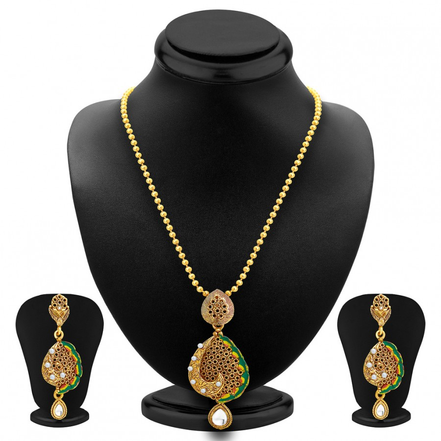 Buy Sukkhi Sublime Gold Plated Pendant Set For Women Online