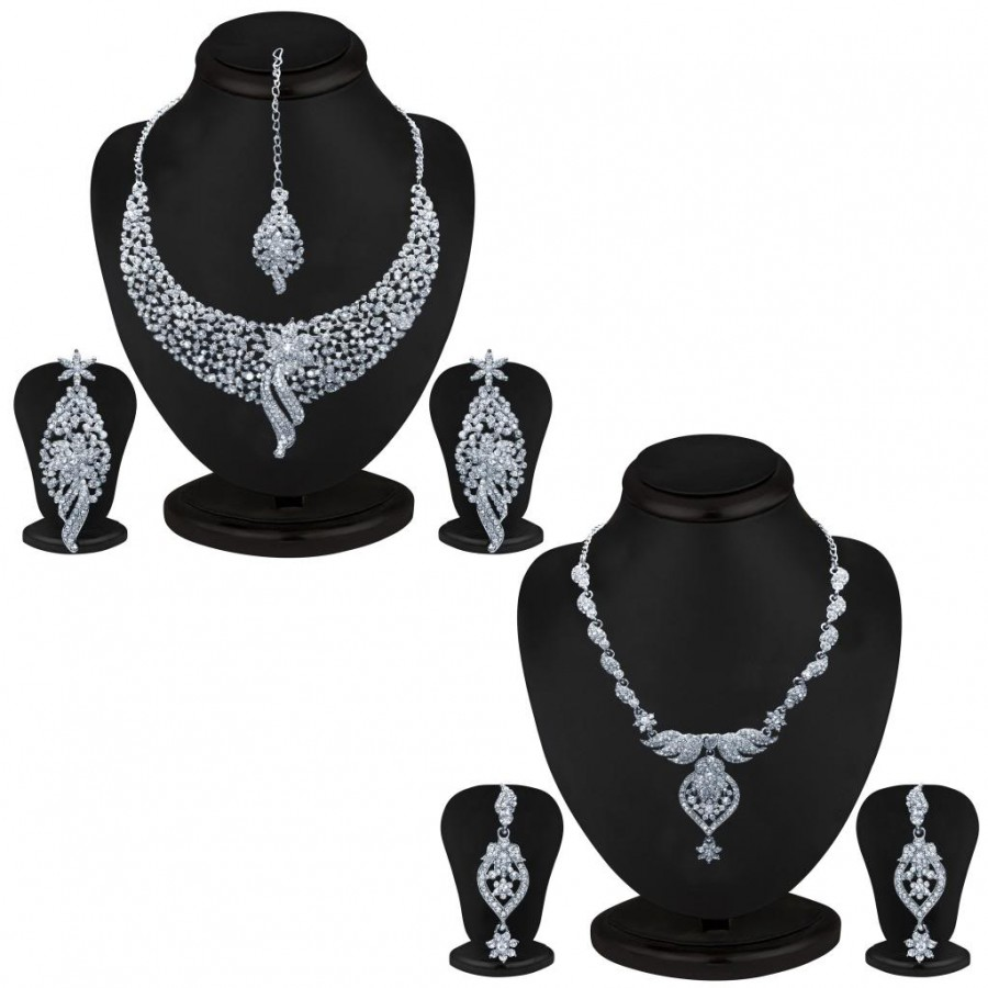 Buy Sukkhi Trendy 2 Piece Necklace Set Combo Online