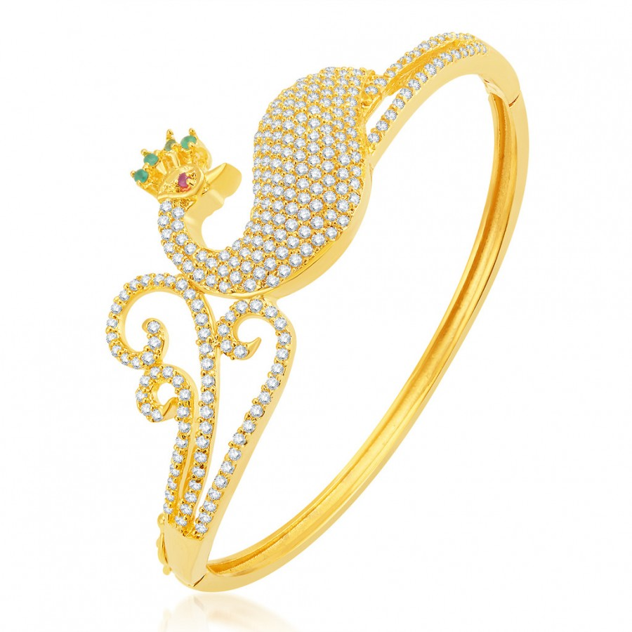 Buy Pissara Bewitching Gold Plated CZ Kada Online