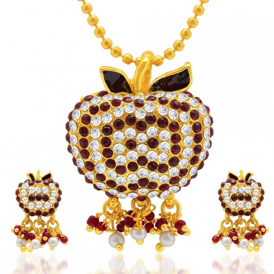 Buy Sukkhi Marvelous Gold Plated AD Pendant Set for Women Online