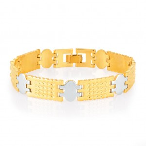 Buy Sukkhi Gracefull Gold and Rhodium Plated Bracelet For Men Online