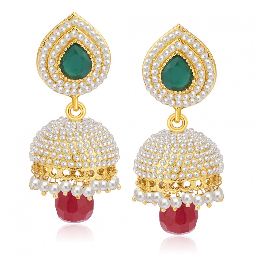 Buy Sukkhi Amazing Gold Plated Pearl Jhumki For Women Online